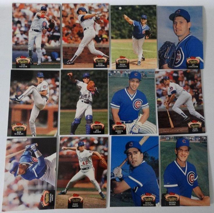 1992 topps stadium club series 1 chicago cubs team set 12