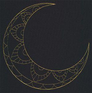 Talisman - Crescent Moon design (UT10006) from UrbanThreads.com