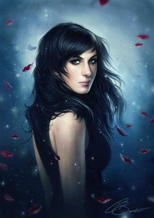 A commission for Patrick Brown. A portrait of his girlfriend Allira. Photoshop CS5 & Wacom Intuos 3.
