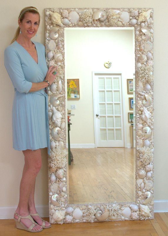 36 best seashell mirrors and seashell decor images on for Mirror 84 x 36
