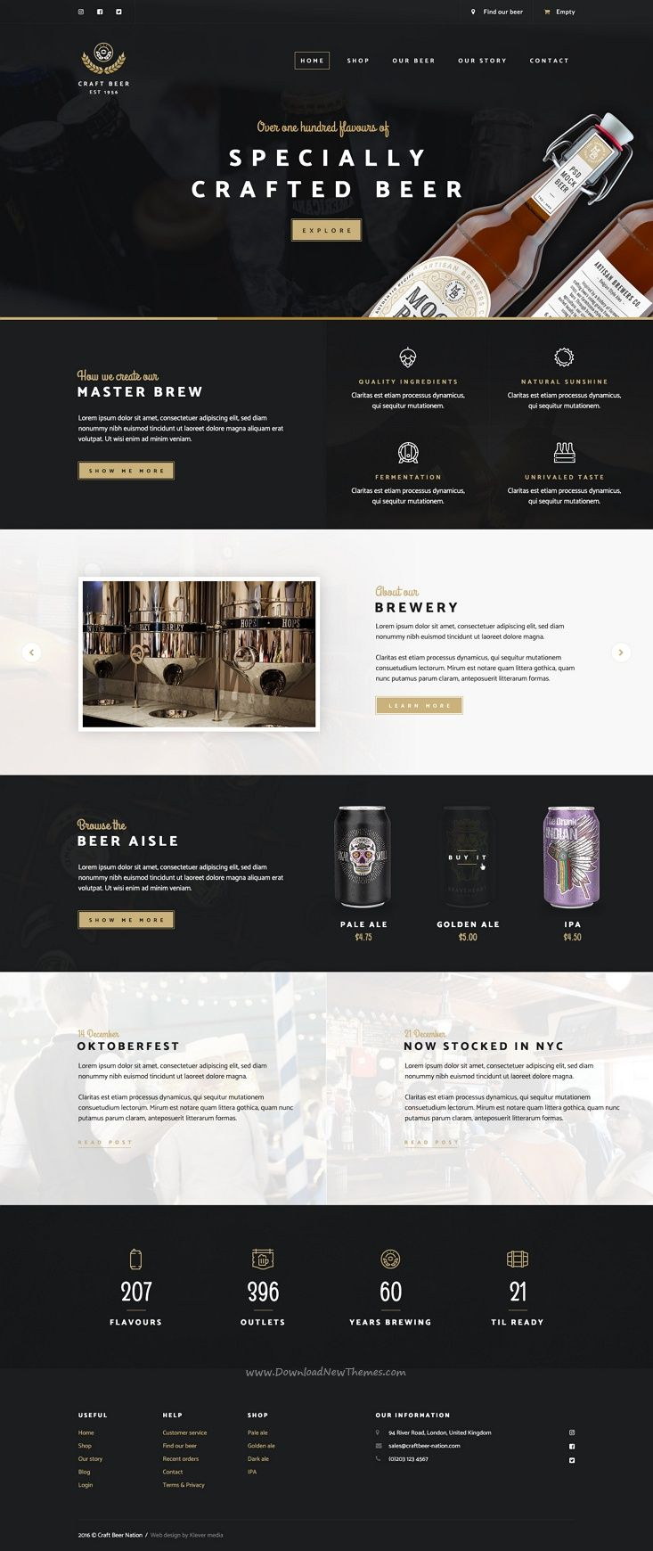 Craft Beer Nation is a professionally designed #Photoshop template aimed for #webdev craft #beer clubs, small beer brewers & beer shop owners websites download now➩ https://themeforest.net/item/craft-beer-nation-psd/19213585?ref=Datasata
