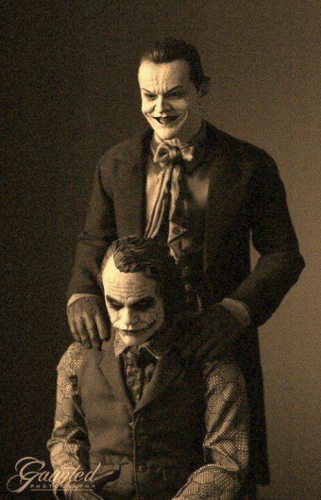 Jack Nicholson and Heath Ledger.