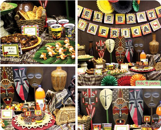 Safari day decoration ideas english camp let 39 s explore for African party decoration
