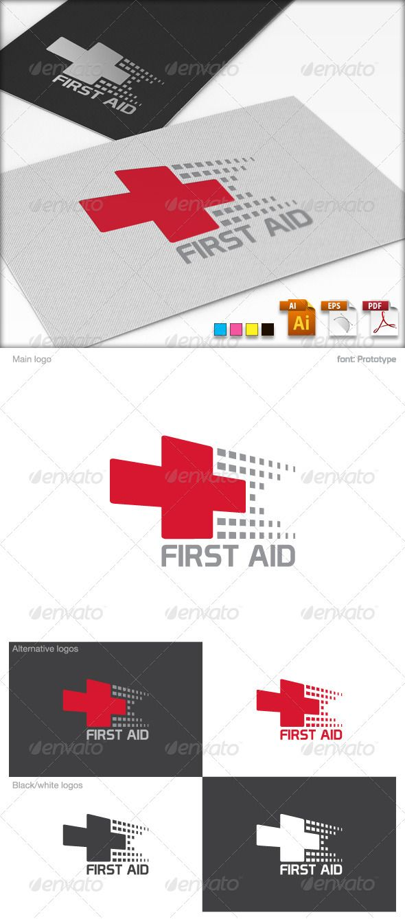 First Aid Logo Tempate  #GraphicRiver        First Aid Logo Tempate  This is a excellent logos in vector format. The logo is perfect for any business associated with medicine.  	 You can easily change the text. You can freely experiment with color. You can easily place this logo on your business card and printing – it's ready to print. You can easily place it on web page.   The Pack contains:   Colour Mode: CMYK color  Adobe Illustrator 10: AI & EPS  Adobe Illustrator CS5 : AI  Adobe…
