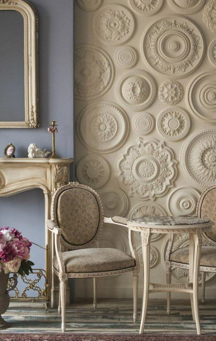 Deco Salon De Luxe Avec Une Multitude De Frises Rondes Au