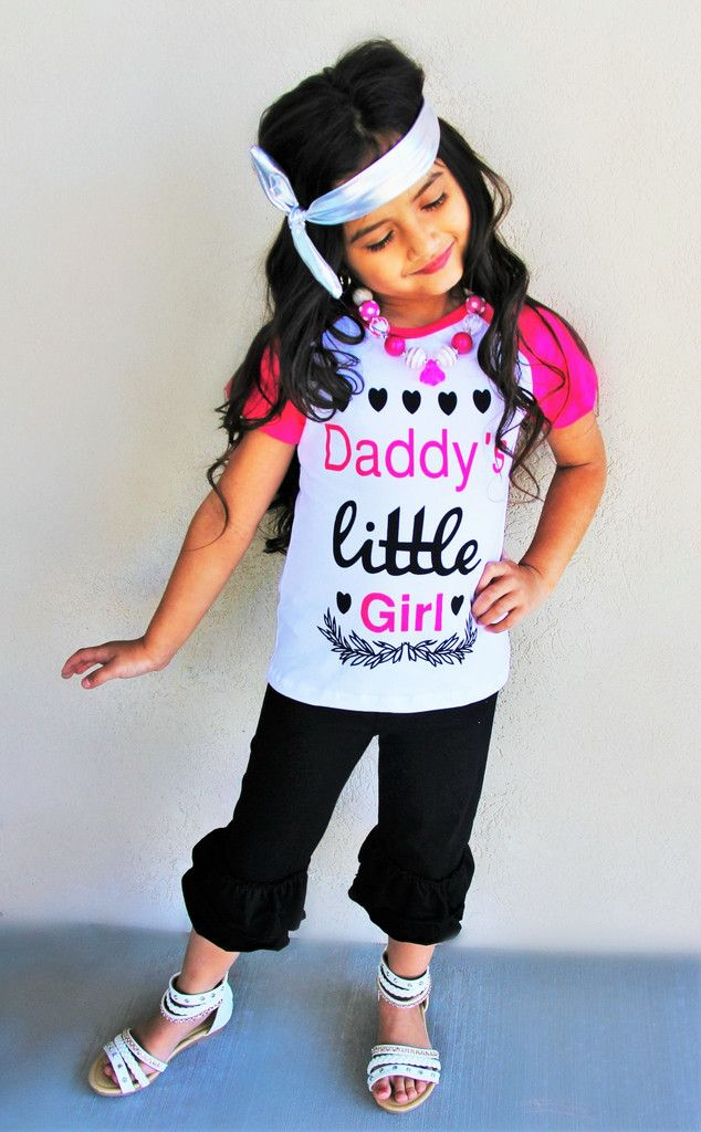 """Daddy's Little Girl"" Ruffle Capri Set #boutique-outfits #new #newborn-clothing #newborn-sets #perfect-sets #spring-line"