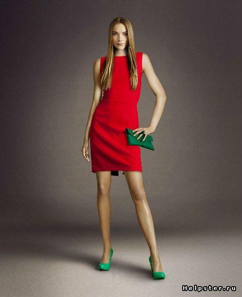 Помогите подобрать туфли и аксессуары к красному платью! / черные туфли фото