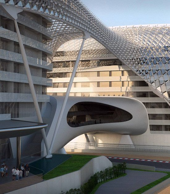 The Yas Marina Circuit is the venue for the Formula 1 Abu Dhabi Grand Prix. The circuit was designed by Asymptone Architecture, and is situated on Yas Island, about 30 minutes from the capital of the UAE, Abu Dhabi.