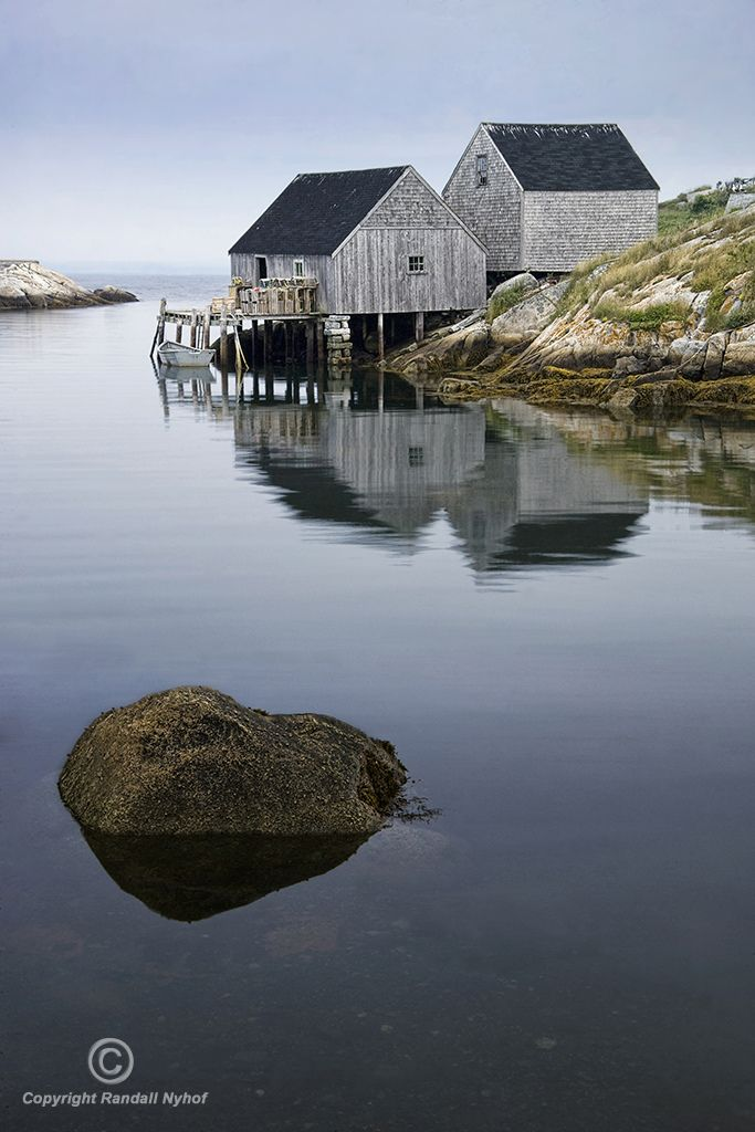 Fishermans' Wharf at Peggy's Cove, Nova Scotia, Canada   by Randy Nyhof, via Flickr