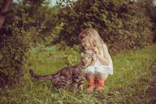 20 photos prouvent que les enfants ont besoin des chats