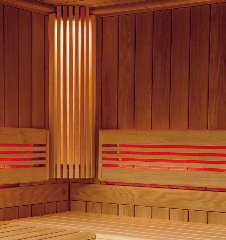 Sauna - Viliv Komfort Plus Colorglas - Sauna - Relagio.de