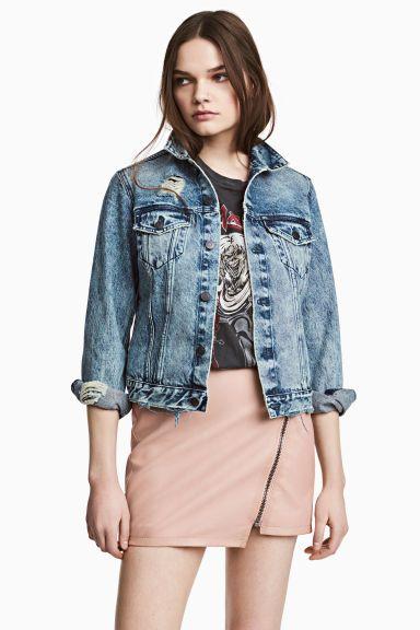 Krótka spódnica - Pudrowobeżowy - ONA | H&M PL 1