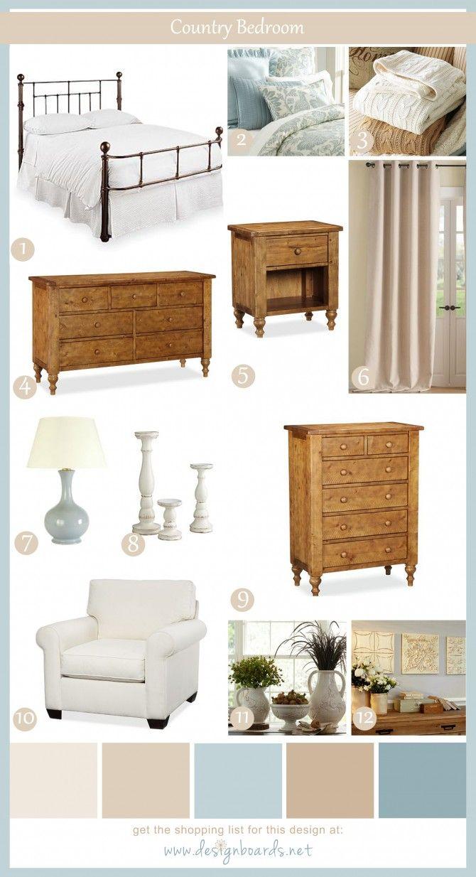 Country Bedroom 2   Design Boards