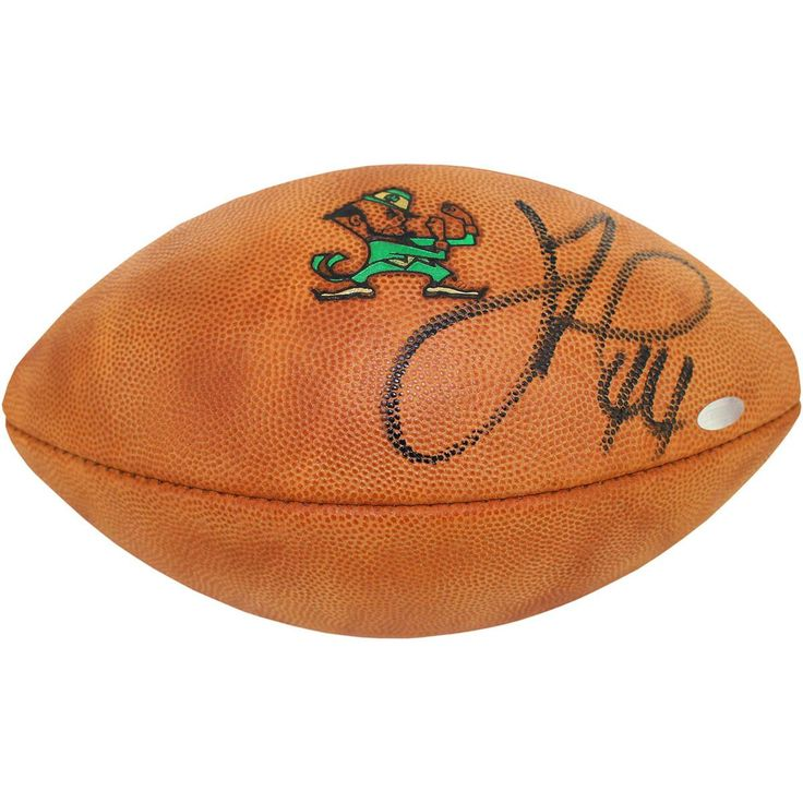 Justin Tuck Signed Notre Dame Game Model Football