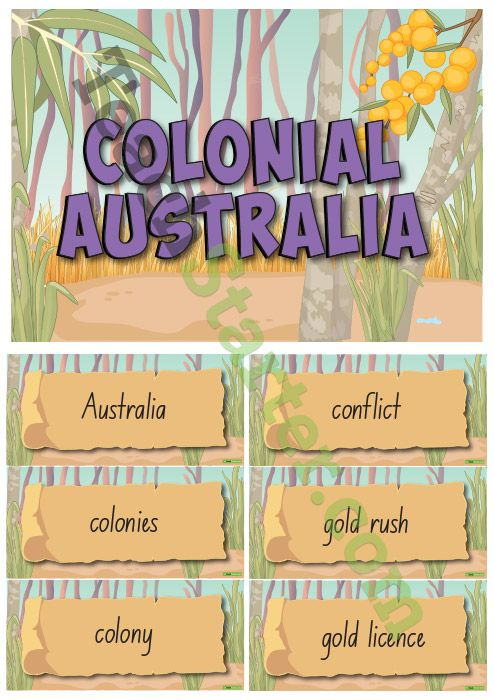 Colonial Australia – History Word Wall Vocabulary Teaching Resource