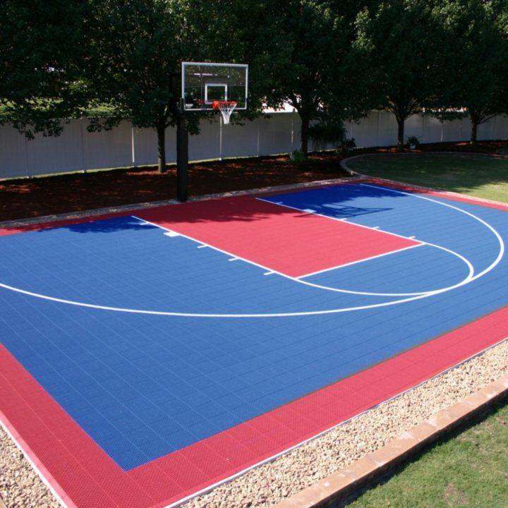 Half Court Diy Backyard Basketball System Sam S Club Basketball Court Backyard Backyard Basketball Backyard Court