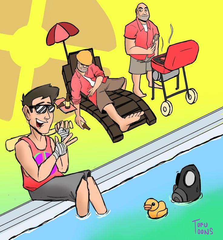 Some Bois Enjoying the Sun. #games #teamfortress2 #steam #tf2 #SteamNewRelease #gaming #Valve
