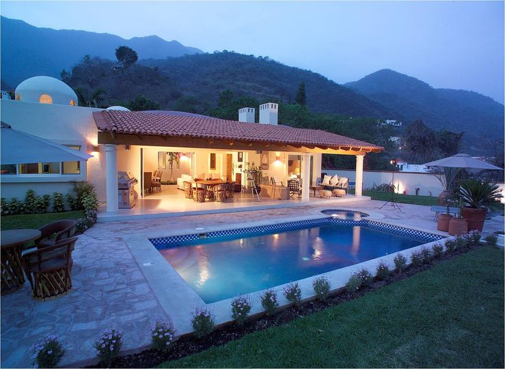 A beautiful house by the mountains in Mexico and get this... it's only $150,000!!Covers Patios, Beautiful House, Beautiful Places, Dreams House, Beautiful Home, Real Estate, Riviera Maya, Flats Roof, Amazing House