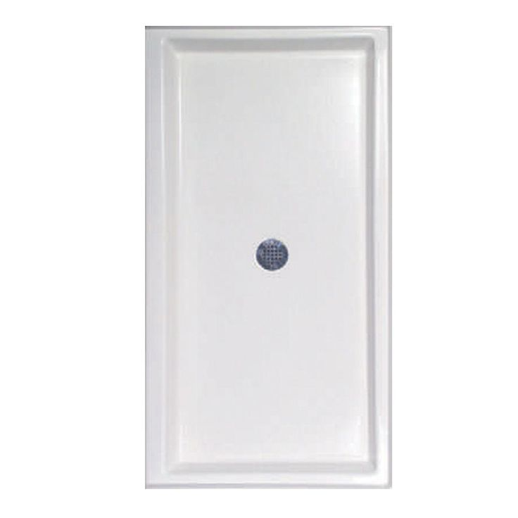 Hydro Systems 72 in. x 36 in. Single Threshold Shower Base in White-HPG7236W - The Home Depot