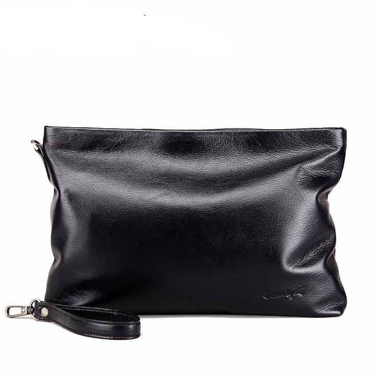 Men's Clutch Handbag Cow Leather Wristlets Wallet Male Long Wallets Wristlet Purse Men Handy Bags Wallet