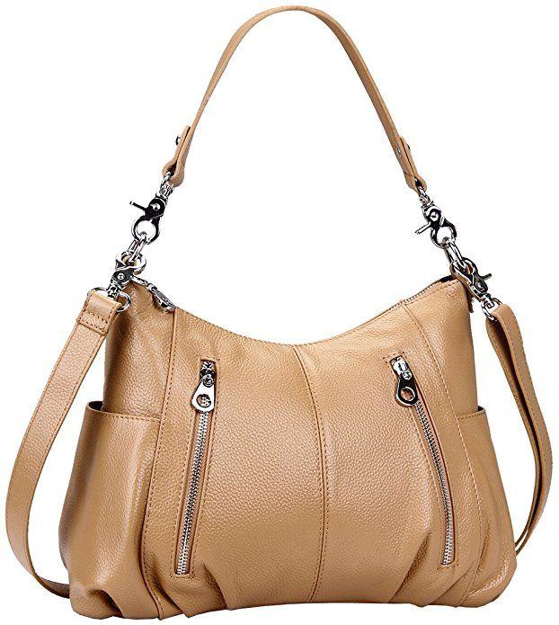 ebe066e5306e Heshe Women s Leather Shoulder Handbags Cross Body Bags Hobo Totes Top  Handel Bag Satchel and Purse
