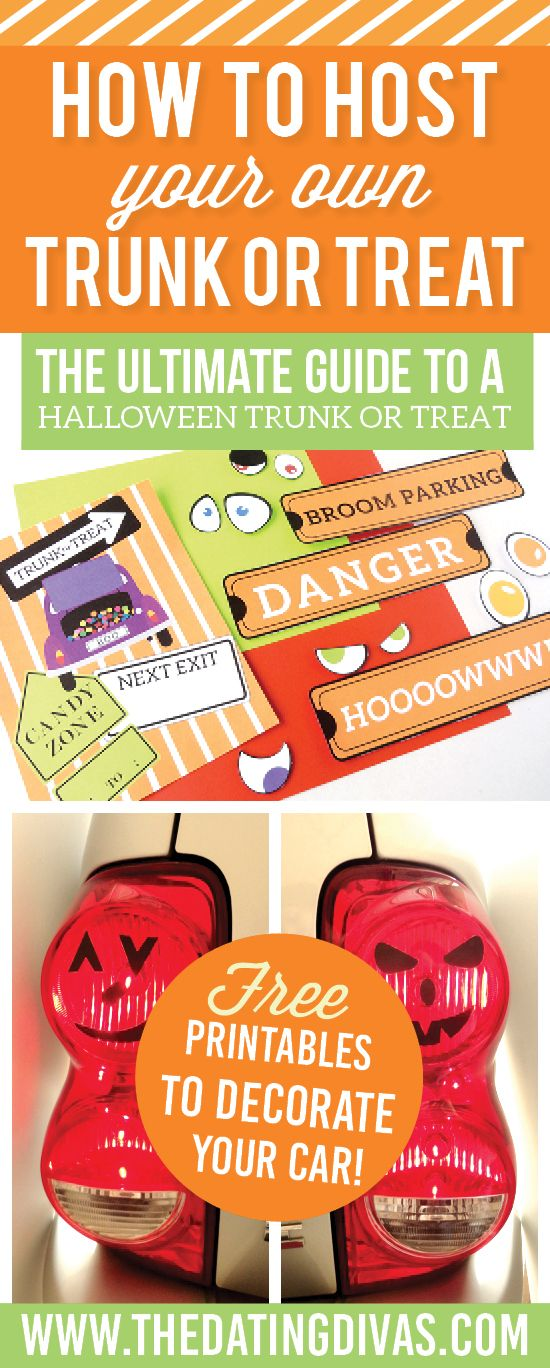 Ideas and step by step instructions for hosting your own Trunk or Treat! www.TheDatingDivas.com
