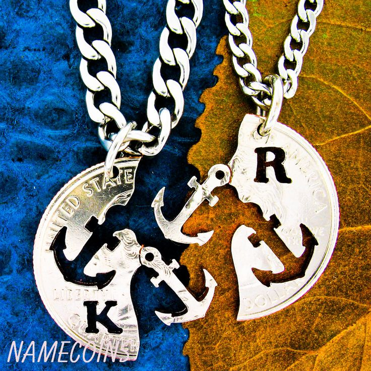 Anchor Jewelry Personalized with intials interlocking by NameCoins, $49.99- I need this!!!