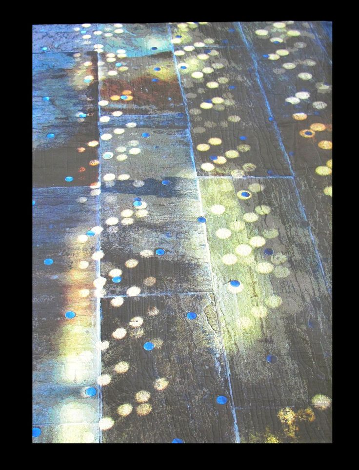 "Pavement Patterns, Dancing Light, var. 4, 60 x 40"", by Barbara Schneider 