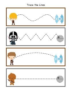 Preschool Star Wars Printable Sheets