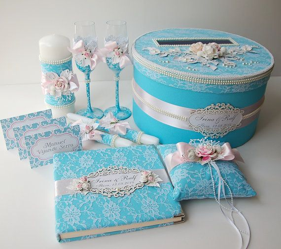 Luxury Wedding Gifts For Couple : Luxury Wedding Accessories Set, Wedding guest book, Wedding box, Ring ...