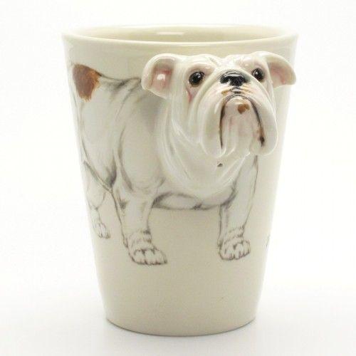 Bulldog Dog Mug 00004 Ceramic Handmade Collectible Dog Lover Gifts   madamepomm - Pets on ArtFire