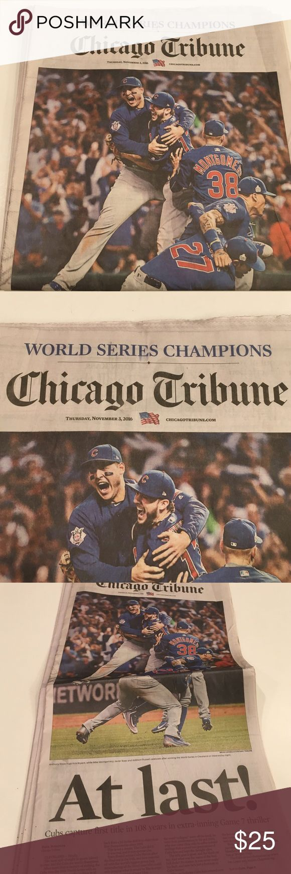 World Series Champions Chicago Tribune Newspaper collector addition I have sun times too chicago tribune Accessories