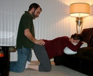 The double hip squeeze is a form of pressure massage that has many uses during childbirth. It can: •relieve lower back pain •reposition a baby who is posterior •reposition a baby who is slow to descend and/or •reposition a baby whose head is not in an ideal position.