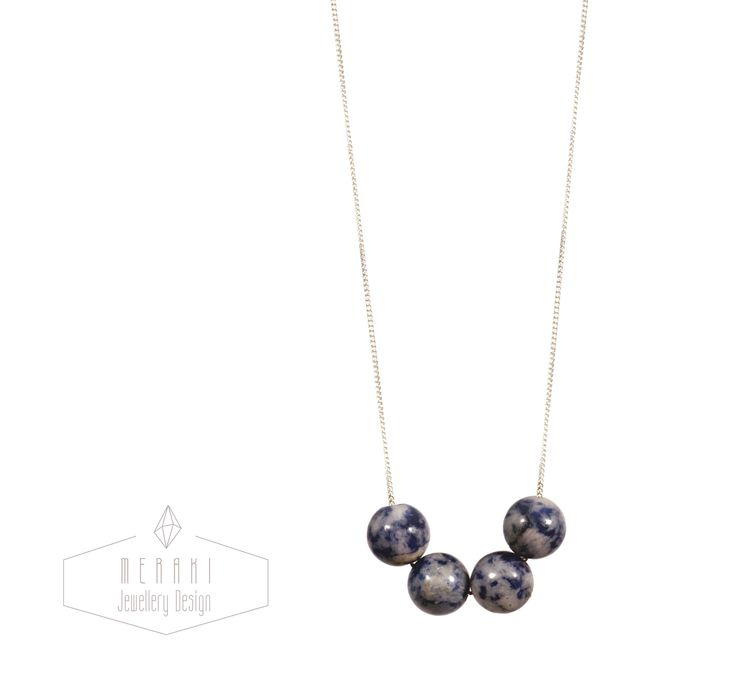 Sodalite necklace www.merakijewellerydesign.com