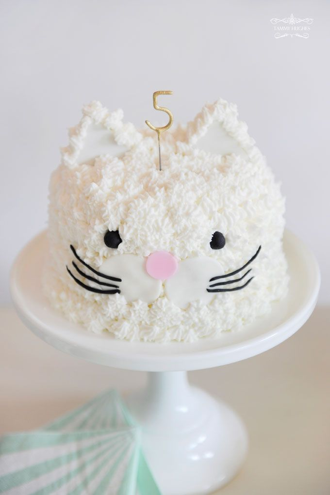 Kitty Kat Birthday Cake ~ the Happy Wish Company | photo Tammy Hughes