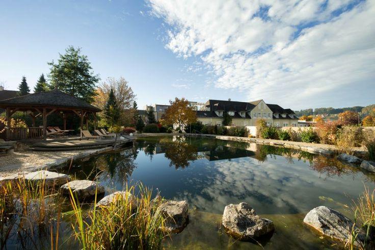 Naturbadeteich im Garten-Hotel