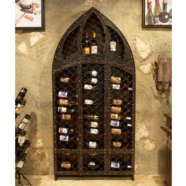 778 42 Bottle Wine Wall Rack