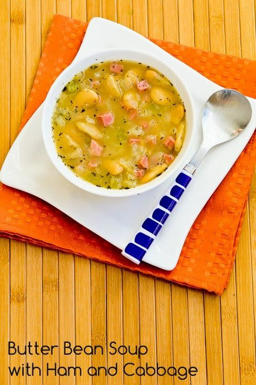 Recipe for Florida Butter Bean (or Lima Bean) Soup with Ham and Cabbage  [from Kalyn's Kitchen]