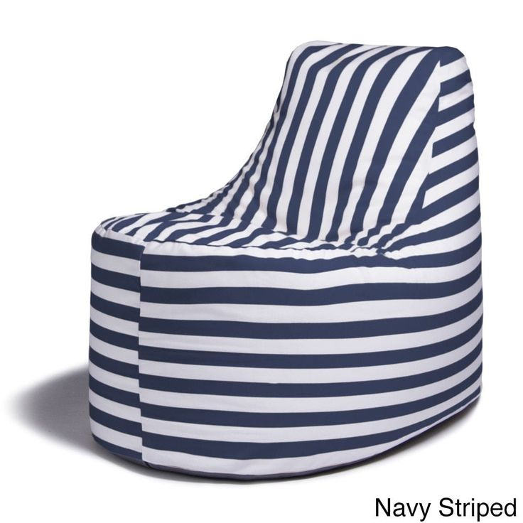 Jaxx Avondale Outdoor Bean Bag Chair Navy Striped Multi Size Single