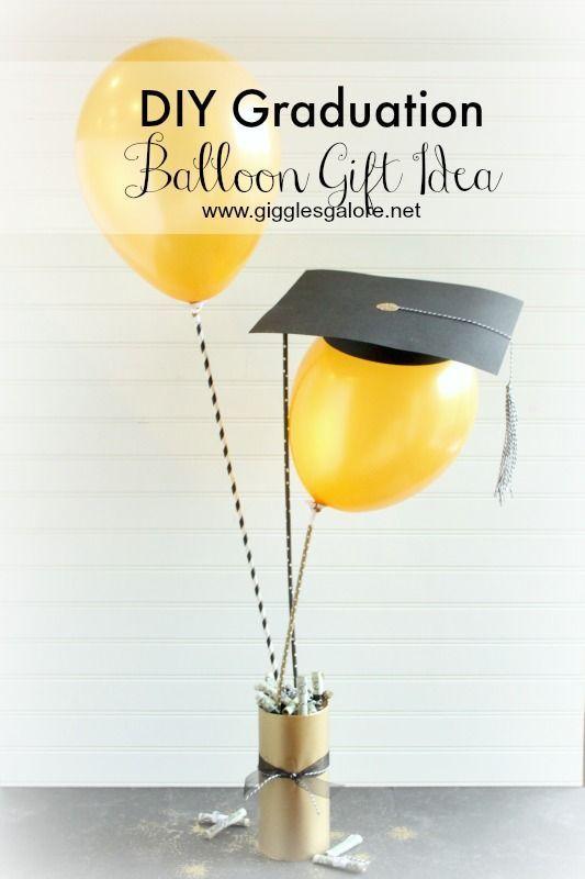 DIY Graduation Balloon Cap & Tassel Gift / Decoration Idea