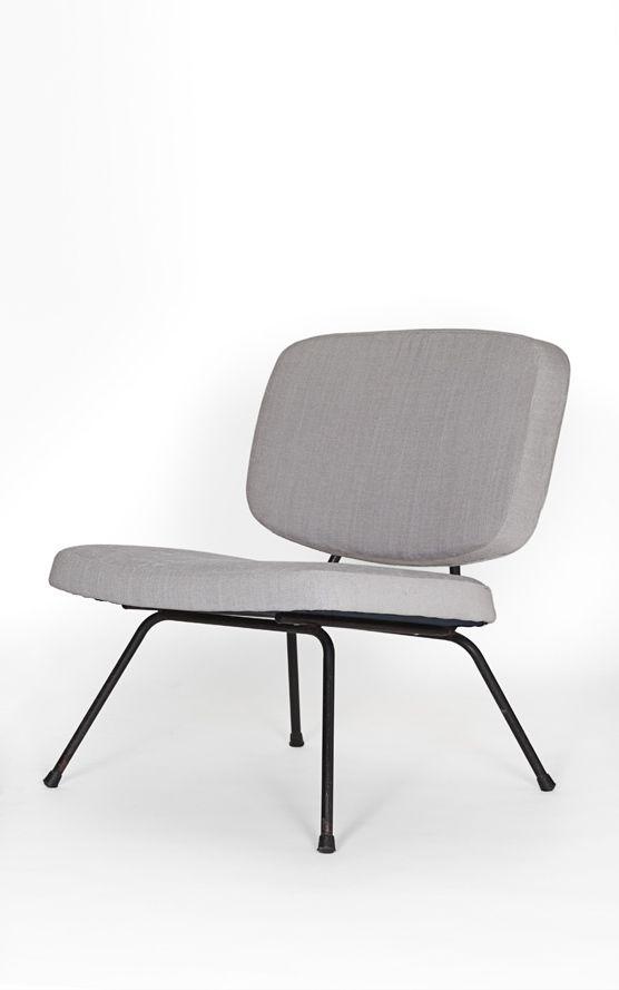 Pierre Paulin; #CM 190 Enameled Metal Easy Chair For Thonet, C1954.