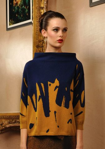 Glam Marks Knit (Col 1. Mustard & Navy) by Antoni & Alison