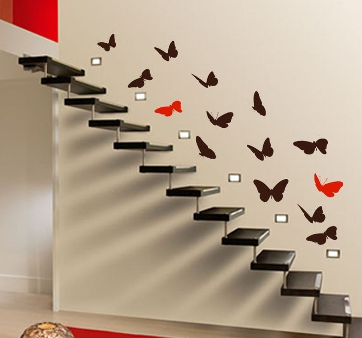 Butterflies Up Stairs