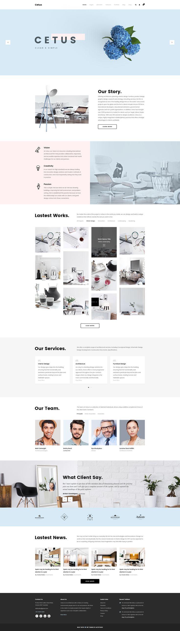 Cetus - Creative Portfolio Psd Template by AlitStudio | ThemeForest