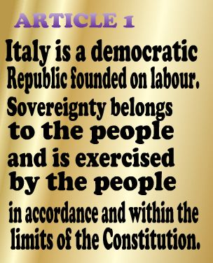 Article one of the Italian Constitution