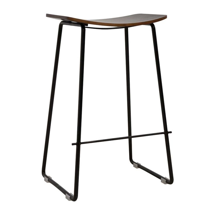 Shop Contemporary Bar Stools Online or Visit Our Showrooms To Get Inspired With The Latest Bar Stools From Life Interiors - Hendrix Bar Stool (Walnut)