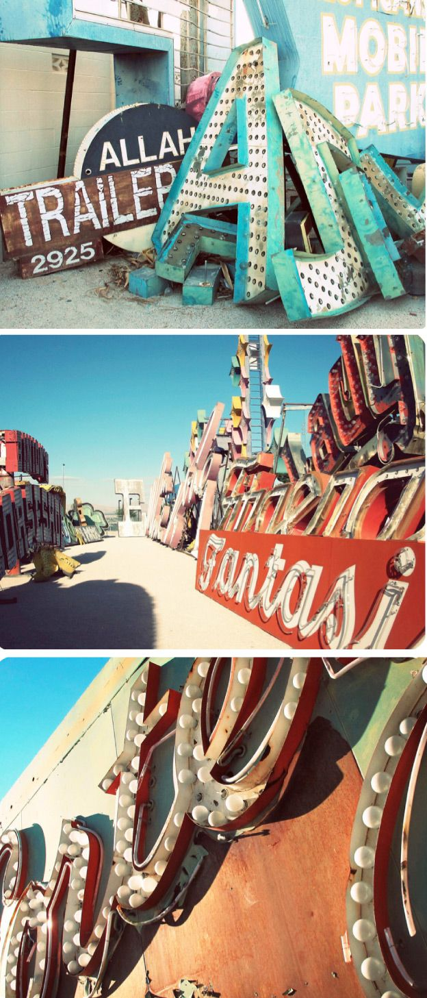 http://www.neonmuseum.org/the-collection/neon-boneyard via lucky pony blog