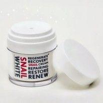 (New) Snail White Cream hadir dengan kandungan serta formula krim yang sangat melembutkan dan menghaluskan kulit wajah.
