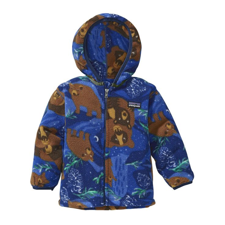 I Just can't even.....omg so adorable  Patagonia Baby Synchilla® Cardigan - This warm cardigan for babies is made of soft polyester fleece and has elastic binding around the hood for a secure fit.