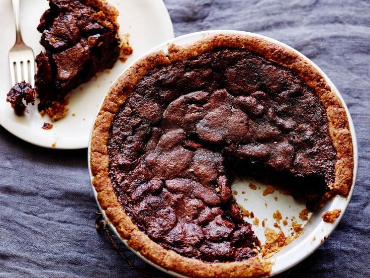 Bourbon And Chocolate Pecan Pie recipe from Tyler Florence via Food Network